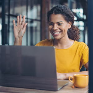 Woman interviewing for freelance projects